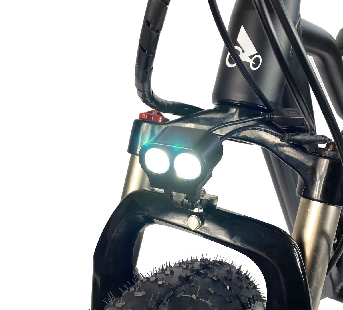 Luz led, cableado impermeable y suspensión de bloqueo