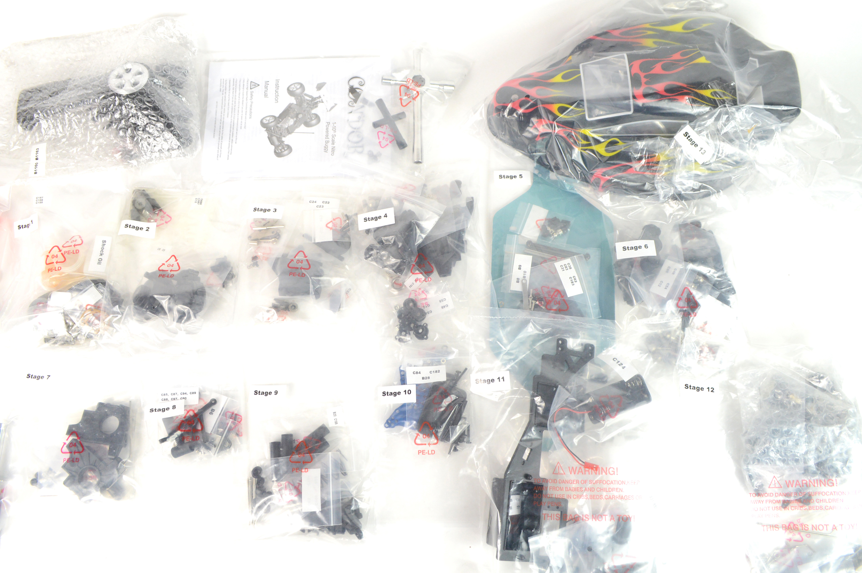 All bagged parts